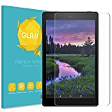 Fintie Tempered Glass Screen Protector for Amazon Fire HD 8 Tablet, 9H Ultra