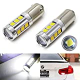 iJDMTOY (2) 360 Degrees Xenon White 3W CREE w/ 8-SMD H21W LED Replacement Bulbs For 2016-up LCI BMW F30 3 Series Backup Reverse Lights