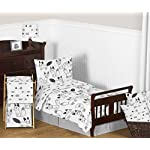 Sweet-Jojo-Designs-Fitted-Crib-Sheet-for-Black-and-White-Fox-Collection-BabyToddler-Bedding-Set-Collection