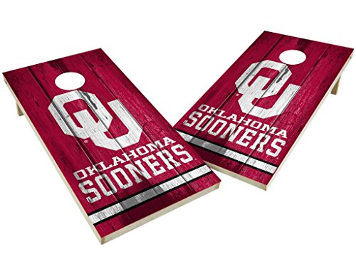 PROLINE NCAA College 2' x 4' Oklahoma Sooners Cornhole Board Set - (Oklahoma Set)