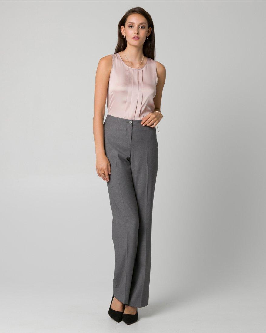 LE CHÂTEAU Women's Tailored Gabardine Flare Leg Pant,12,Medium Grey by LE CHÂTEAU (Image #3)