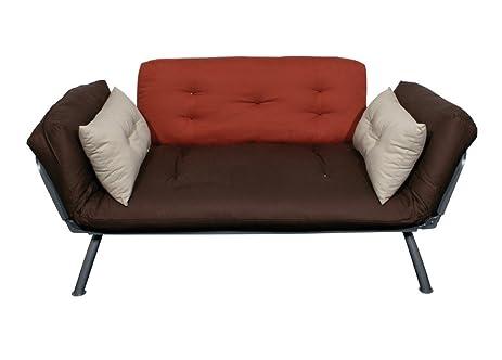 american furniture alliance mali flex futon frame and cushions plank dusk stone amazon    american furniture alliance mali flex futon frame and      rh   amazon