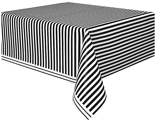 Striped Plastic Tablecloth, 108