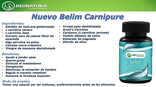 Amazon.com: NEW! RED NATURA BELIM CAPSULES, IMPROVED FORMULA! BEST WEIGHT LOSS CAPSULES by Red Natura: Health & Personal Care