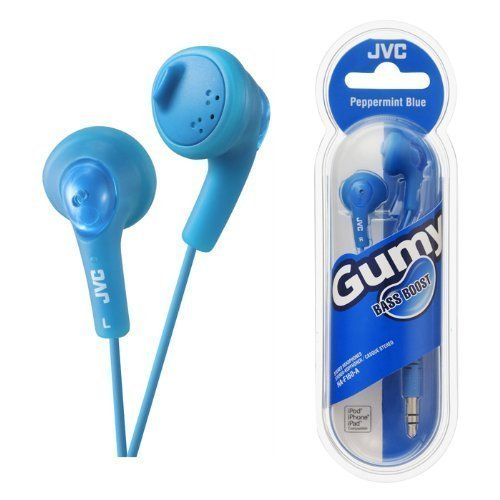UKDapper JVC HAF160 Blue Gumy Bass Boost Stereo Headphones for iPod, iPhone, MP3 and Smartphone -