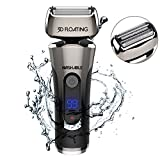 GOOLEEN Electric Razor for Men Cordless Foil Shaver Wet and Dry Electric Shaver for shaving Beard Trimmer with Waterproof 3D Flexible Head USB Rechargeable LED Display