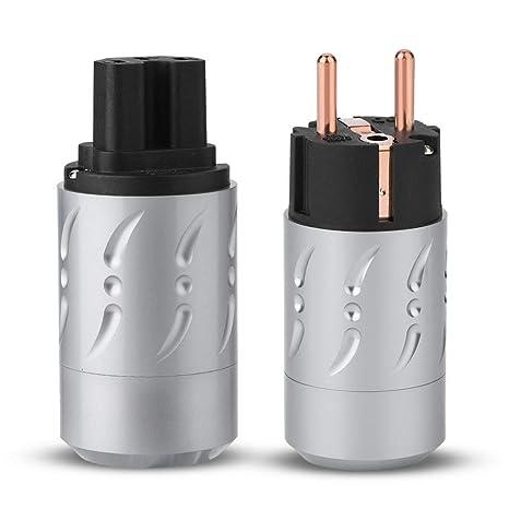 Eboxer 2pcs Conector de Poder de Base de Cobre Pura Audio de ...