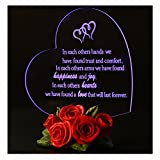 Giftgarden Heart-shaped LED Personalized Gifts Cake Topper Birthday Engagement Wedding Decorations 1st 2nd 3rd 4th 5th 20th 25th 30th 40th 50th 60th Anniversary Gift for Her Him Men Women Couple