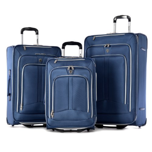 Olympia Hamburg Luggage Set, Navy, One Size
