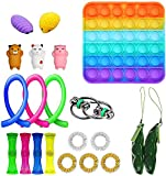 Fidget Toy Set 24 Packs, Sensory Fidget Toys Pack for Kids or Adults, Stress Relief and Anti-Anxiety Tools Toys Kill Time (Stlye J)