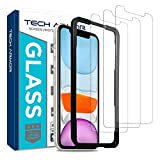 Tech Armor Ballistic Glass Screen Protector for Apple iPhone 11 / iPhone Xr - Case-Friendly Tempered Glass [3-Pack], Haptic Touch Accurate Designed for New 2019 Apple iPhone 11