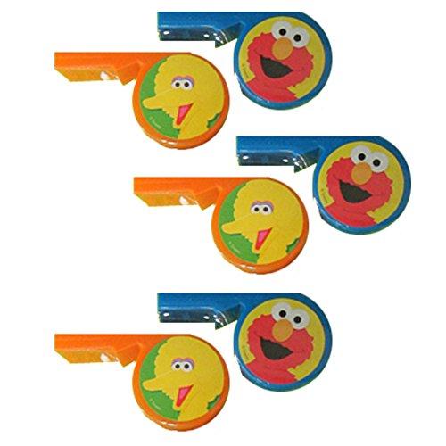 Sesame Street Plastic Whistles / Favors (6ct)
