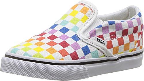 Vans Toddier Slip-On (Checkerboard) Rainbow/True White VN000EX8U09 Toddler Size - Vans Toddler 6