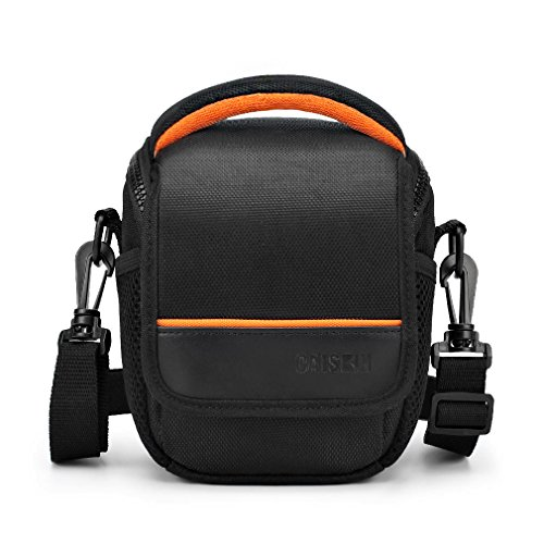 CAISON Camera Case Shoulder Bag For Compact System Mirrorless Camera Canon EOS M6 M5 M3 M10 PowerShot SX540 HS SX430 IS / SONY A6500 A6300 A6000 A5100 / NIKON 1 J5 COOLPIX B700 B500 / OLYMPUS E-PL 8 (Carrying Case Handycam)