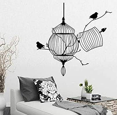 BRILLINT.YY Vinilos Decorativos Pared Aves Voladoras Plantas ...