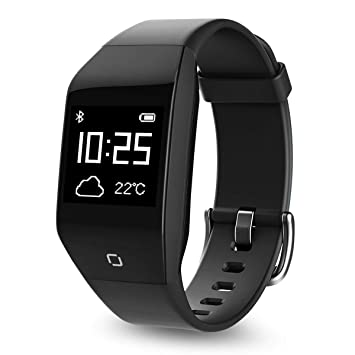 Coffea Fitness Tracker, Activity Tracker Watch with Heart Rate Monitor, 5 ATM IP68 Waterproof Smart Bracelet with Music Player, Pedometer Calorie ...