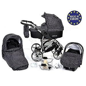 ALLIVIO, 3-in-1 Travel System with Baby Pram, Car Seat, Pushchair & Accessories (3in1 Travel System -Baby tub, Sport…