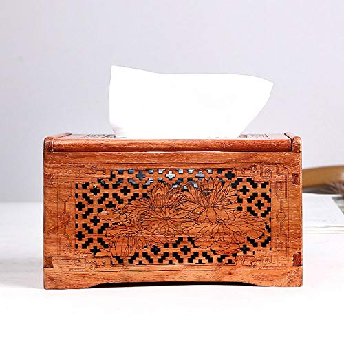 LCNINGZJH Rosewood Tray/Desktop Decoration Solid Wood Tissue Box/Mahogany Napkin Box Storage Box (Color : A) Blue Rosewood Napkin Holder