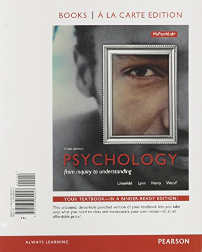 Psychology: From Inquiry to Understanding, Books a la Carte Edition plus REVEL -- Access Card Package (3rd Edition) (Lilienfeld Psychology From Inquiry To Understanding 4th Edition)