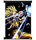 1 X Dragon Ball Z Super Saiyan Goku Anime Fabric Wall Scroll Poster (16x21) Inches