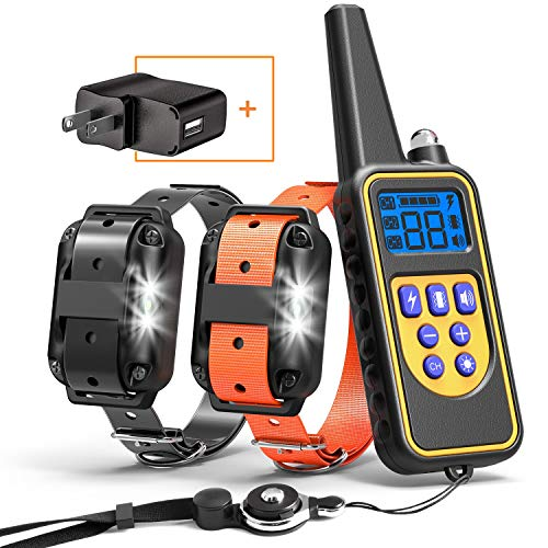 Cambond Dog Shock Collar for 2 Dogs, 2600ft Range Waterproof Dog Training Collar with Remote Electronic Dog Collar for…
