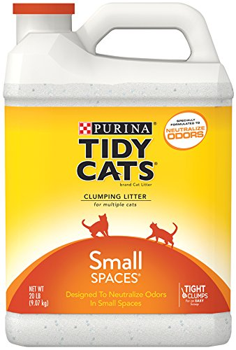 Amazon.com : Tidy Cats Cat Litter, Clumping, Small Spaces, 20 ...