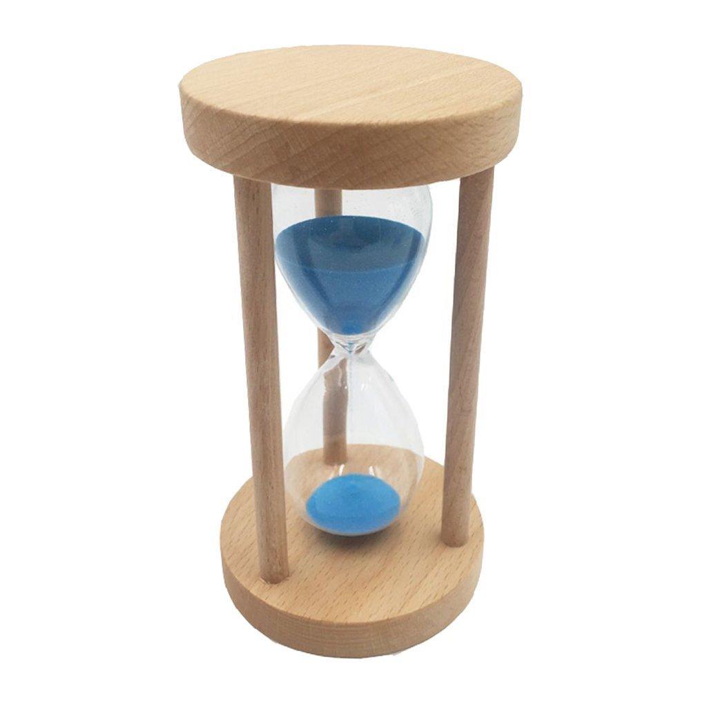 Magideal 10/15/30minuti sabbia clessidra clessidra in vetro con cornice in legno per cucinare, maschera, yoga, giocattolo, pulizia dei denti Queta