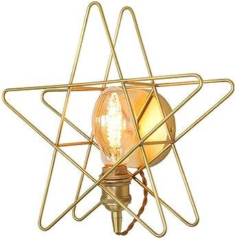 Moderno dibujo animado creativo estrella aplique de pared plafón oro hierro lámpara de pared lámpara de noche para dormitorio salón hogar escalera pasillo Loft baño lámpara de espejo: Amazon.es: Iluminación