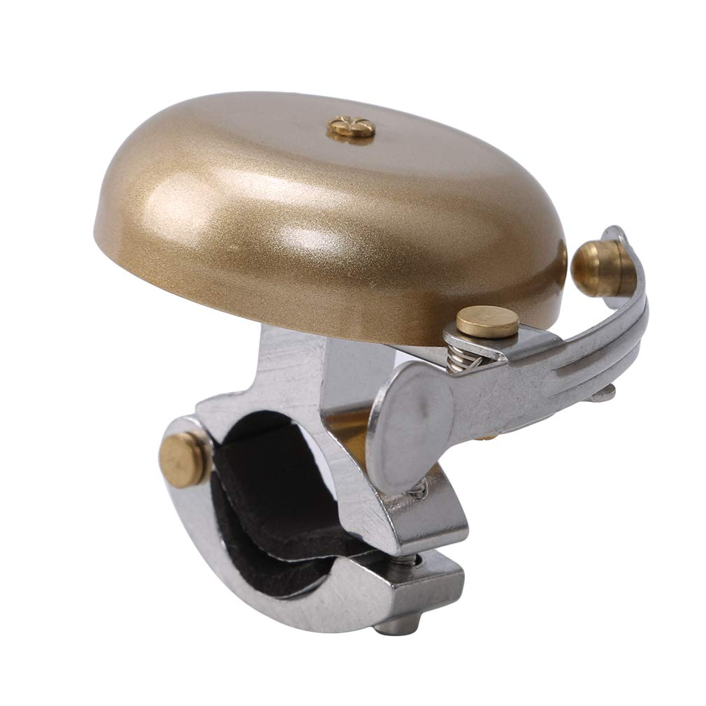 YouCY Bicycle Bell Retro Cycling Horn Vintage Mini Outdoor Riding Bike Handlebar Safety Alarm Bell,Gold