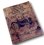 Massey-Harris 44 44K Tractor Operators Operating Service Manual Intructions