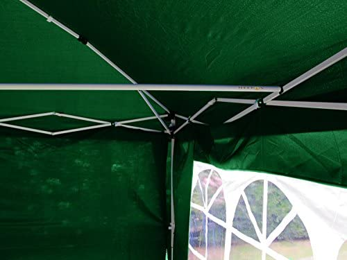Helios Deluxe 3x3mtr Green Pop Up Gazebo, Fully Waterproof, Includes Windbreaker Bar, Four Sides And Strong Oxford Bag