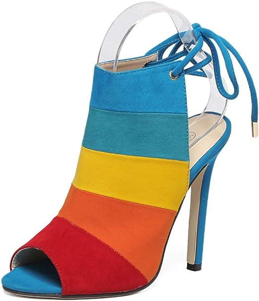 Lixibei Tacones para Mujer, Sandalias de Punta Abierta Color