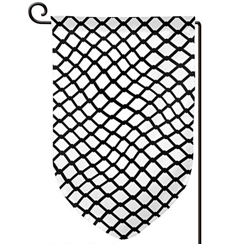 (Hucuery Seasonal Garden Flag, Curved Mesh Iron Bar Vertical Double-Sided 12.5 X 18 in Courtyard Decoration Durable, Lovely Gifts )
