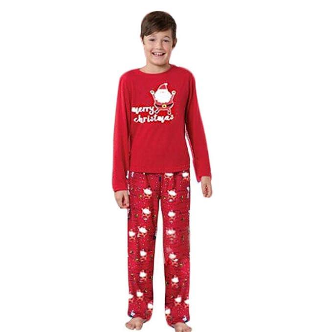 K-youth Ropa de Casa Familia Conjunto de Pijamas Familiares Unisexo Papá Noel Pijamas de