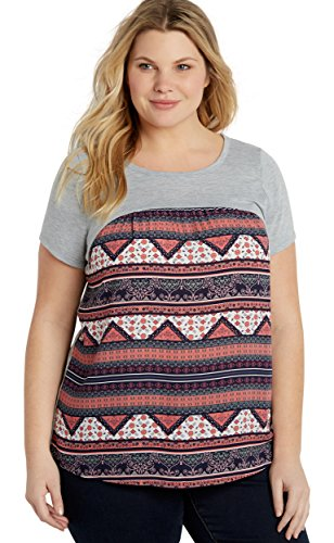 Maurices-Womens-Plus-Size-Heathered-Tee-With-Patterned-Chiffon-Front-And-Strappy-Peek-A-Boo-Back