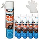12 x 750ml Aerosol Expanding Foam Quick Set Can Gap Filling, Fixing, Insulating by Truly PVC Supplies