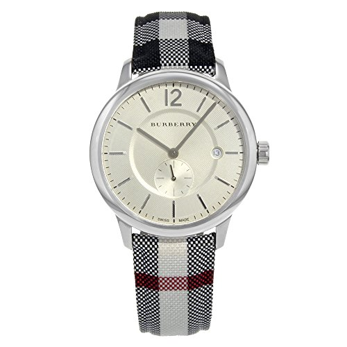 Burberry Silver Dial Stainless Steel Textile Quartz Men's Watch BU10002