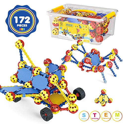 AOKESI STEM Building Toys for Kids 172 PCS Snap Together Building Kits | Engineering Early Learning Building Blocks Set…