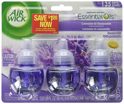 Air Wick Scented Oil 3 Refills, Lavender U0026 Chamomile, (3X0.67oz), Air  Freshener