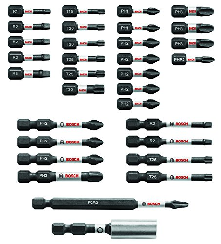 Bosch 32 Piece Impact Tough Screwdriving Bit Set SBID32 - Screwdriving Drill Driver