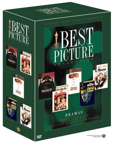 Best Picture Oscar Collection - Drama (Amadeus/Casablanca Special Edition/Driving Miss Daisy/The Life of Emile Zola/Mrs. Miniver)