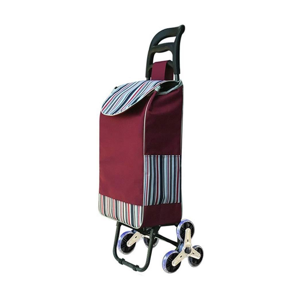 Lxrzls Lightweight Shopping Trolley - 10cm Wear-Resistant Crystal Wheel - Foldable Bag Luggage Grocery Cart - Unisex Designs