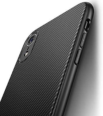 J Jecent Funda iPhone XR [Textura Fibra de Carbono] Carcasa Ligera ...