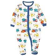 Schmoopy Baby Boy Car Footed Pajamas Sleeper 0-6 Months