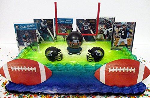 Jacksonville Jaguars Team Themed Football Birthday Cake Topper (Jacksonville Jaguars Cake)