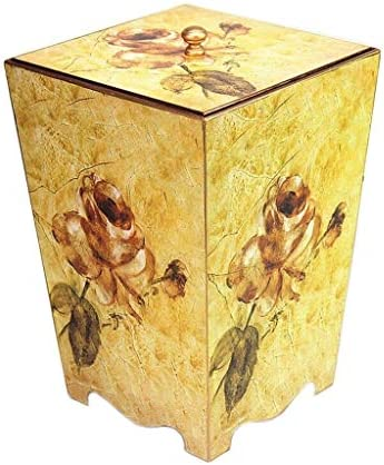 ゴミ袋 ゴミ箱用アクセサリ 8Lレトロゴミ箱クリエイティブ牧歌的ゴミ箱リビングルームの寝室収納バケツすることができます キッチンゴミ箱 (Color : C)