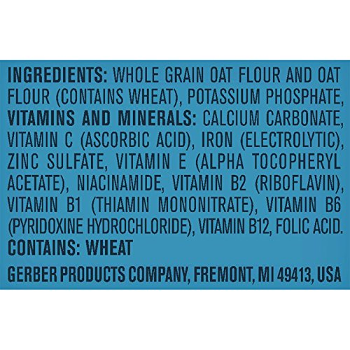 512YRHs%2BXnL - Gerber Single-Grain Oatmeal Baby Cereal, 8 Ounces (Pack Of 6)