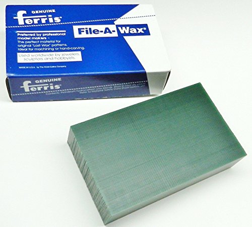 Green Carving Wax Ferris File-A-Wax Block 1 Pound Jewelry Model Making Wax Green (File Ferris Wax)
