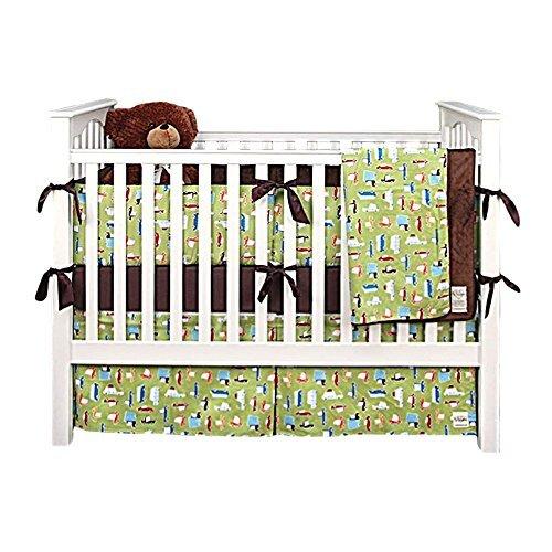 My Blankee 6 Piece Crib Bedding Set Roadtrip Lime Green [並行輸入品]   B07HLL5LGK