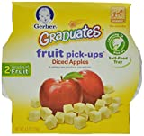 Gerber Graduates Fruit Pick Ups - Diced Apples, 4.5-Ounce (Pack of 8)